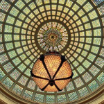 Chicago has a Tiffany glass dome.